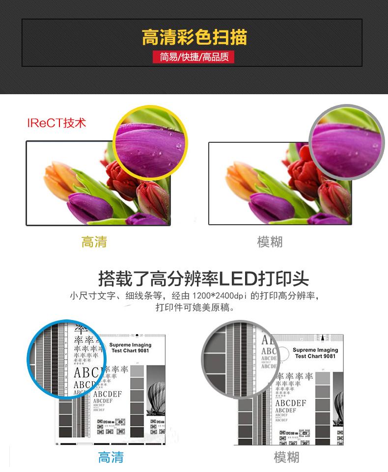 高分辨率LED打印头,使打印件媲美原稿